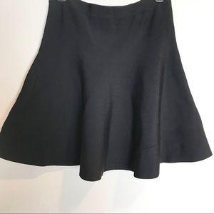 BCBGMAXAZRIA Black Body Con Stretchy Skater Skirt